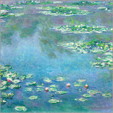 Sticker mural  Nymphéas - Claude Monet
