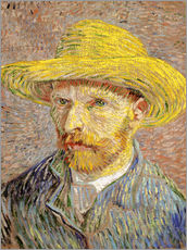Sticker mural  Vincent van Gogh with straw hat - Vincent van Gogh