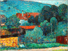 Tableau en plexi-alu  Moated castle, Wasserburg am Inn - Alexej von Jawlensky