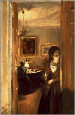 Sticker mural  Living room with Menzels sister - Adolph von Menzel