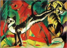 Poster  Trois chats - Franz Marc