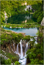 Sticker mural  Waterfall Paradise Plitvice Lakes - Andreas Wonisch