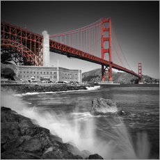 Tableau en plexi-alu  Pont du Golden Gate, Fort Point - Melanie Viola