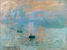 Sticker mural  Impression, soleil levant - Claude Monet
