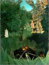 Tableau en plexi-alu  The monkeys - Henri Rousseau