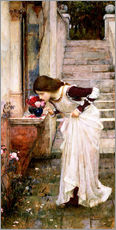 Tableau en plexi-alu  Le sanctuaire - John William Waterhouse