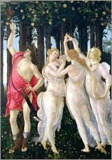 Sticker mural  Detail of the Three Graces and Mercury, from the Primavera - Sandro Botticelli