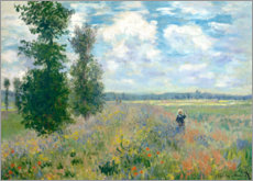 Sticker mural  Le champ de coquelicots - Claude Monet