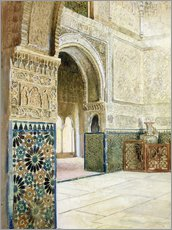 Tableau en plexi-alu  Interieur de l'Alhambra, Grenade - French School