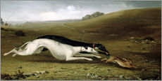 Sticker mural  Hare Coursing in a Landscape, 1870 - John Fitz Marshall