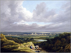 Sticker mural  View of Oxford from a Distance - Joseph Mallord William Turner