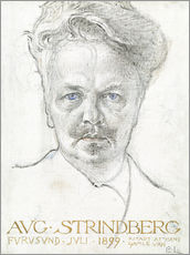 Sticker mural  August Strindberg - Carl Larsson