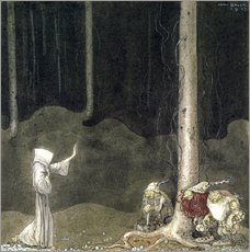 Sticker mural  Brother St. Martin and the Three Trolls - John Bauer