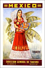 Tableau en plexi-alu  Mexico - Tehuantepec - Travel Collection