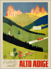 Sticker mural  Journal vintage Alto Adige, Tyrol du Sud, Italie - Travel Collection