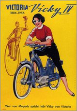 Tableau en plexi-alu  Who's talking about mopeds, praises Vicky Victoria - Advertising Collection