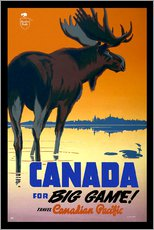Tableau en plexi-alu  Canada - big game ! - Travel Collection