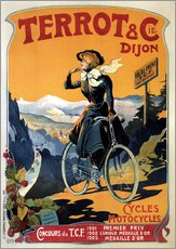 Tableau en plexi-alu  Terrot & Cie Dijon bicycles and motorcycles - Advertising Collection