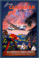Poster  Fly to the Caribbean by Clipper - Travel Collection