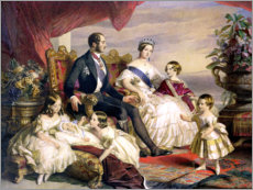 Sticker mural  Queen Victoria and Prince Albert with Five of the Their Children - Franz Xaver Winterhalter