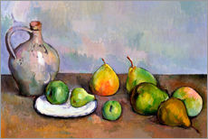 Tableau en plexi-alu  Pichet et fruits - Paul Cézanne