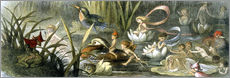 Sticker mural  Water-Lilies and Water Fairies - Richard Doyle