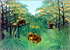 Sticker mural  Singes dans la jungle - Henri Rousseau