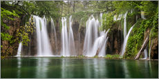 Sticker mural  Paradise like waterfall in plitvice - Andreas Wonisch