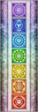 Sticker mural  The Seven Chakras - Series II -Artwork II - Dirk Czarnota