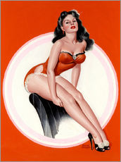 Sticker mural  Brunette in Red Bathing Suit - Peter Driben