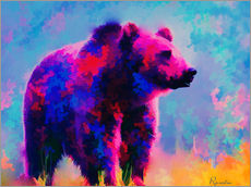 Sticker mural  Grizzly Bear - Rosalina Nikolova