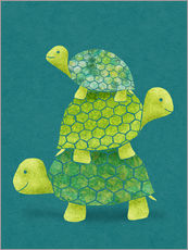 Sticker mural  Pile de tortues - Lindsey Rounbehler