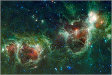Sticker mural Infrared mosaic of the Heart and Soul nebula