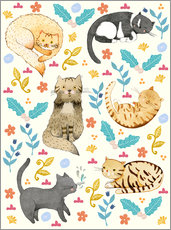 Sticker mural  My Cats - Judith Loske