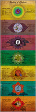 Sticker mural  System of Chakras Yoga Poster - Sharma Satyakam