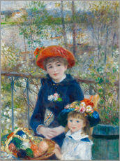 Sticker mural  Two Sisters - Pierre-Auguste Renoir