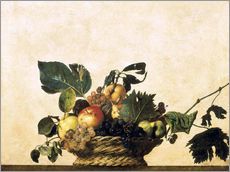 Sticker mural  Corbeille de fruits - Michelangelo Merisi (Caravaggio)