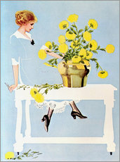 Sticker mural  Housekeeper with bouquet - Clarence Coles Phillips