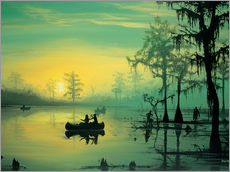 Tableau en plexi-alu  Mississippi Sunrise - Georg Huber
