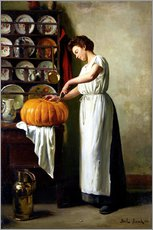 Tableau en plexi-alu  Carving the pumpkin - Franck Antoine Bail