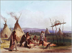 Sticker mural  Camp d'Amérindiens - Karl Bodmer