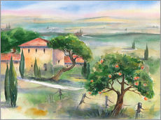 Sticker mural  Tuscany with orange tree - Jitka Krause