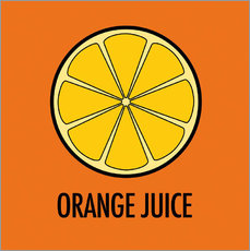Sticker mural Orange Juice