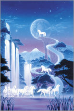 Sticker mural  White unicorn falls - Robin Koni