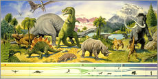 Tableau en plexi-alu  Land of the dinosaurs - Paul Simmons