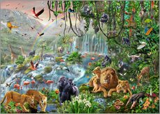 Tableau en plexi-alu  Cascade dans la jungle - Adrian Chesterman