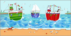 Tableau en plexi-alu  Boats - Peter Adderley