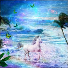 Sticker mural  Enchanted Horse - Alixandra Mullins