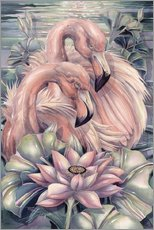 Tableau en plexi-alu  Flamants roses - Jody Bergsma