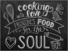 Tableau en plexi-alu  Cooking with love - Lily & Val